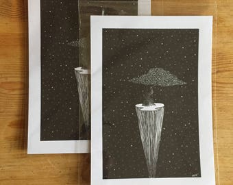 A5 tree original print