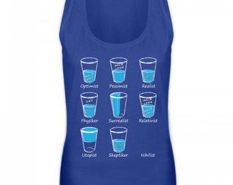 High quality women's Tanktop-water glass Optimist