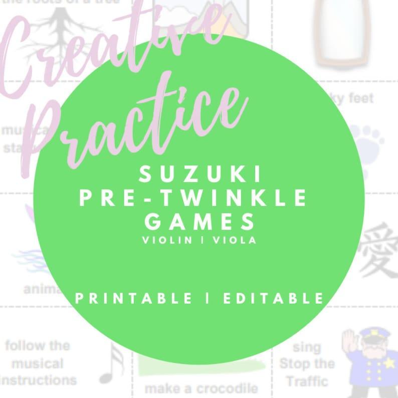 Suzuki Pre-Twinkle Games Printable Flashcards for Violin & image 0