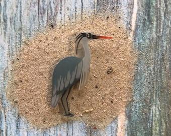 Great Blue Heron Lapel Pin