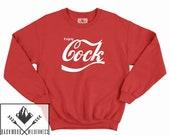 Enjoy C ck This Christmas Funny Xmas Gift Secret Santa Present Hipster Crewneck Sweater Tumblr Slogan Rude Naughty Unisex Mens Womans JUMPER