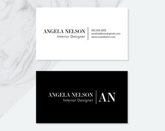 Premade Business Card Design Pdf Digital File Personalized Etsy