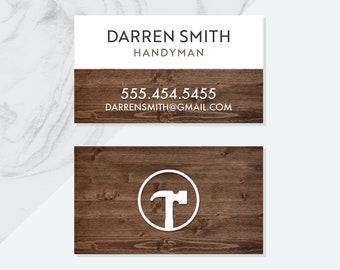 Handyman cards etsy premade handyman business card design pdf digital files pre made business cards pre made handyman design business card design pdf file reheart Gallery