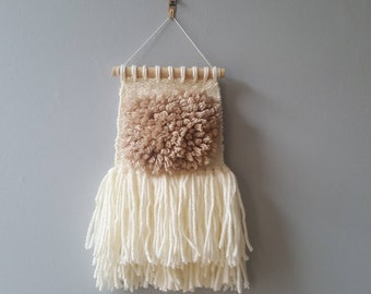 Mini Neutral Extra Fluffy Woven Wall Hanging