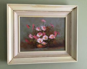 ORIGINAL ROBERT COX painting 1980 flowers