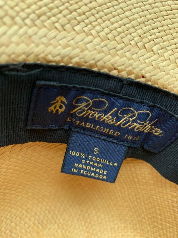 Elegant Brooks Brothers Straw Hat/ Vintage Brooks… - image 2