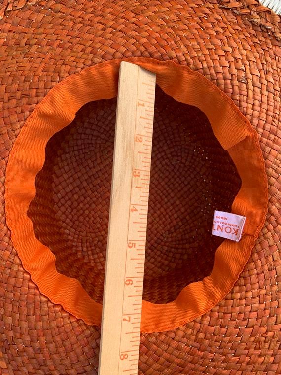 Vintage Orange Straw Summer Hat Made in Italy - image 5