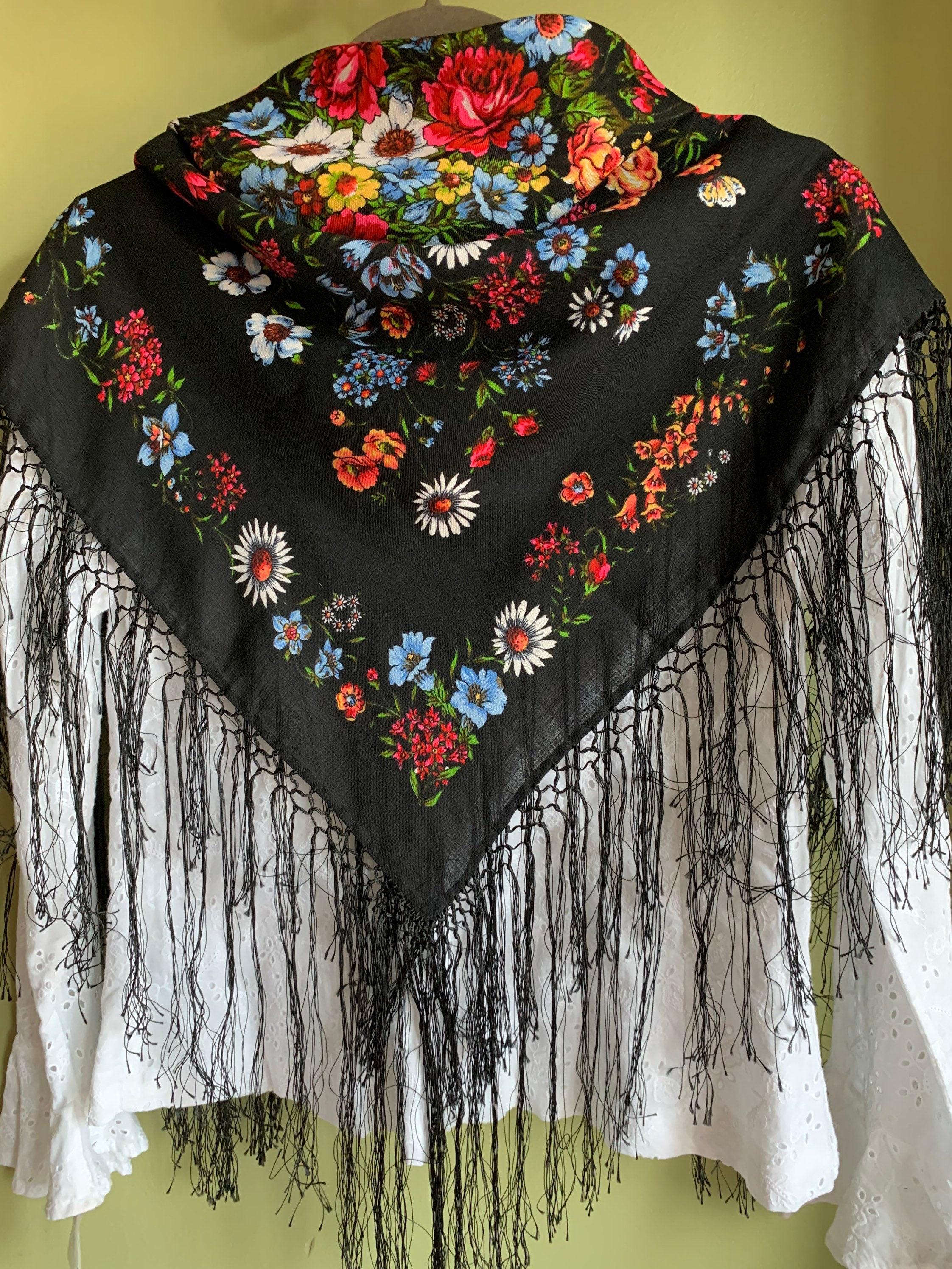 Классический тол печать Тонкий шарф шерсти с длинными | Etsy