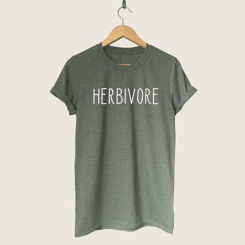 0e1f88be29 Herbivore T-Shirt Funny Vegan Shirt Vegetarian Saying T | Etsy