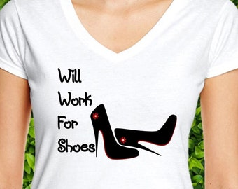"""9f489abde43d86 Gift for Her """"Will Work for Shoes"""" Red Bottom Shoes"""