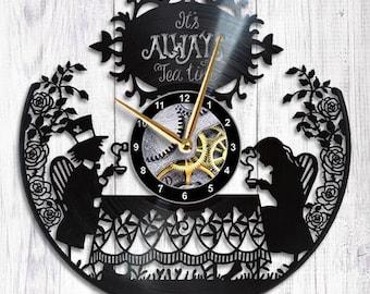 Alice in Wonderland Clock alice clock alice in wonderland decorations