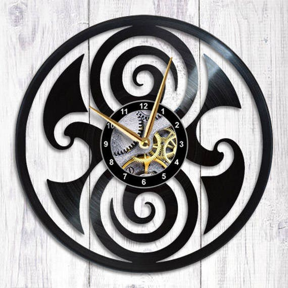 Doctor Who Vinyl Wall Clock Gallifrey Time Lord Etsy