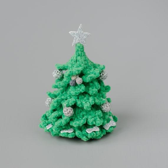 Crochet Christmas Tree.Knitted Christmas Tree Crocheted Miniature Home Decor Winter Holiday Crochet Decor Gift For Friend Relatives Christmas Ornament Room Decor
