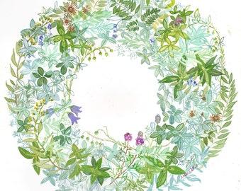Saskatchewan Wildflower Wreath #1