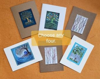 Tree Art Cards