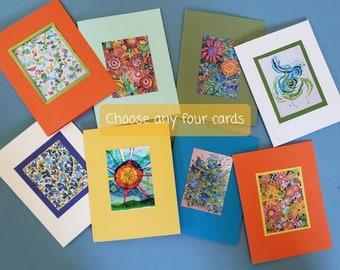 Spring Burst Art Cards