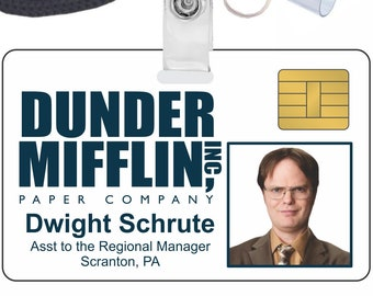 photograph relating to Dwight Schrute Id Badge Printable identify Dwight cosplay Etsy