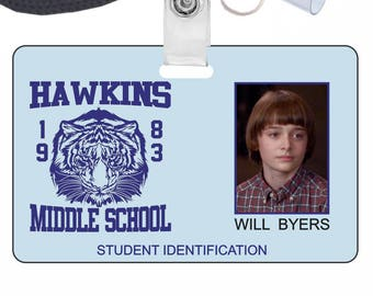 Stranger Things Will Byers Novelty ID Badge for Costume & Cosplay