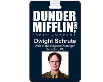 picture about Dwight Schrute Id Badge Printable called Dwight cosplay Etsy
