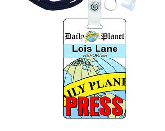 picture relating to Lois Lane Press Pass Printable identified as Lois Lane Each day Earth Push P Novelty Identification Badge for