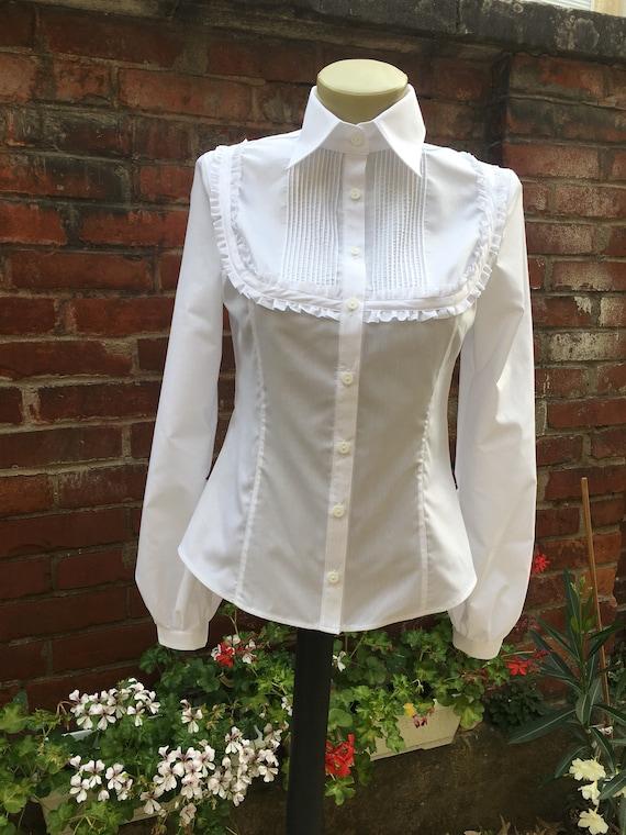 Renaissance Blouse Pirate Shirt White Cotton Blouses Etsy