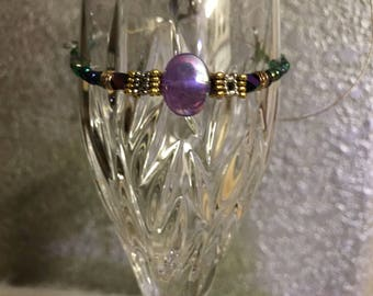 UNSIZED iridescent purple bracelet