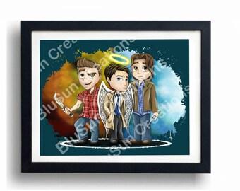 Supernatural Team Poster/Print