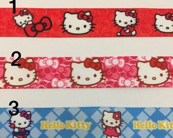 Hello Kitty 3 yards 7/8 Grosgrain Ribbon
