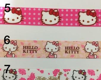 Hello Kitty Ribbon 3 yards 7/8 Grosgrain