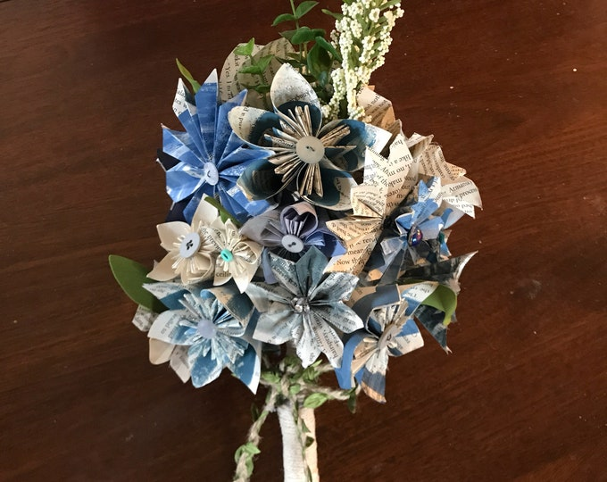 Book Page Flower Bouquet for Weddings, Anniversaries, Home Decor