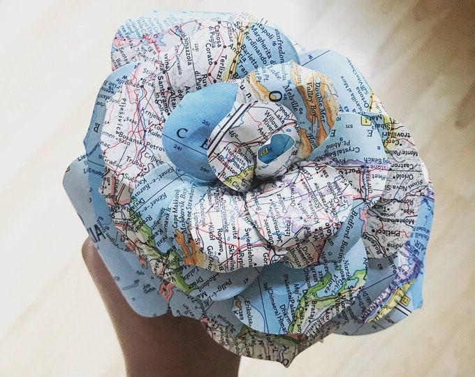 Wanderlust Rose - Traveler Gift - Adventurer - Wedding - Bridal Shower - Home Decor - Vintage Map