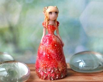 Aries. The element of fire, handmade dolls, miniature dolls, fantasy art, Tiny doll, cute toy, dollhouse toy, home ornaments, dolls, mini