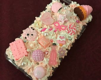 Pink Sweets Decoden Whip IPhone 7 Case