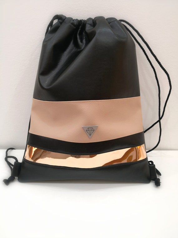 ce7bc2b231d2  45.34 BLACK leather backpack