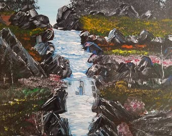 Waterfall of Eden by  Darrell Nickel of DNART CREATIONS