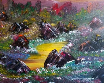 Springtime in the Valley Meadow by Darrell Nickel of DNART CREATIONS in Acrylic