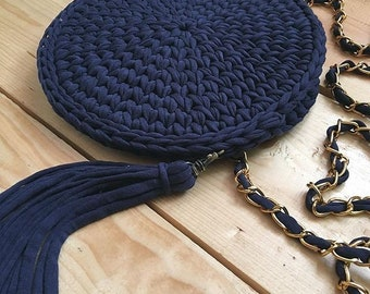 Cute Crochet Circle Bag
