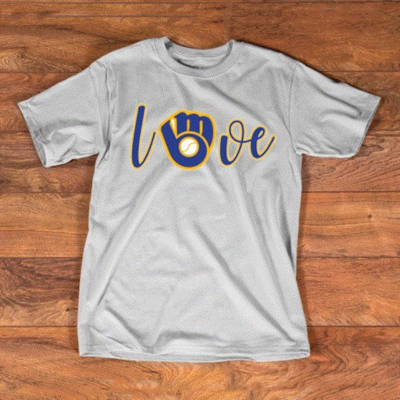 cheaper bdd22 78d35 Milwaukee Brewers Love tee