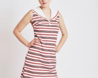 Sailor Style '60s Mini Dress