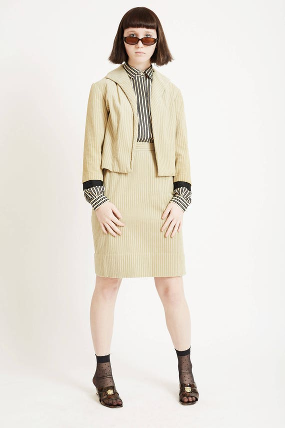 Corduroy Suit with Cropped Jacket - image 3