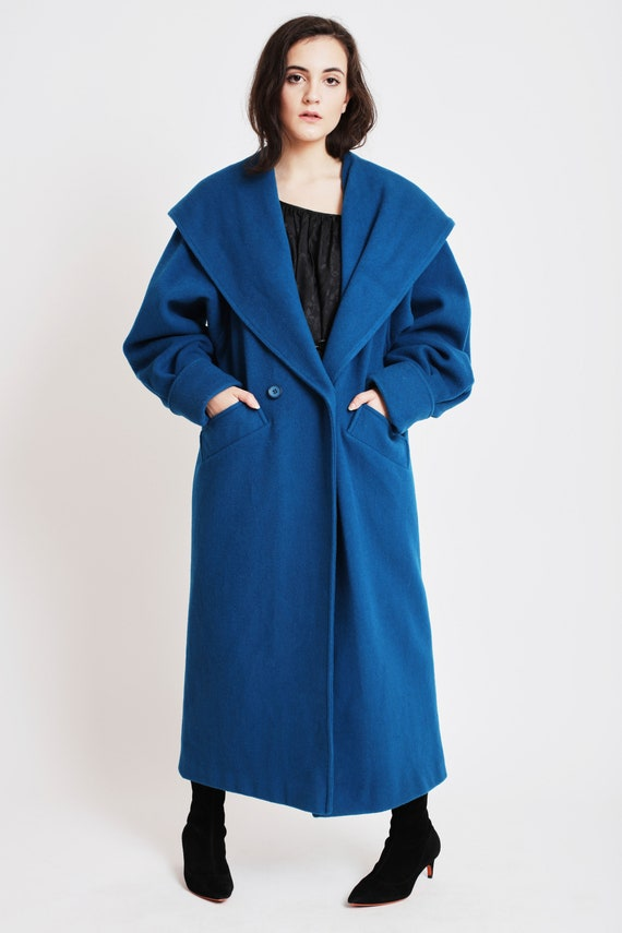 Double Breasted Feminine Wool Topcoat with Hood an