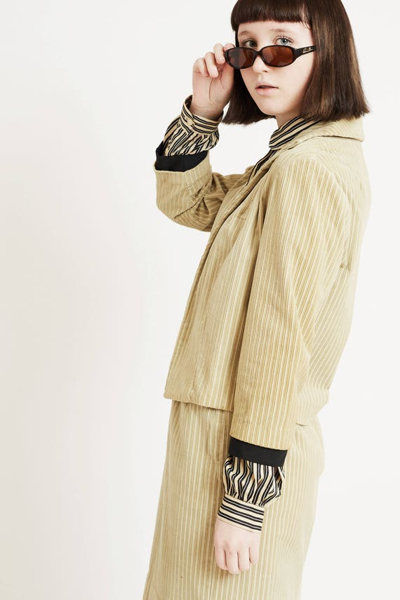 Corduroy Suit with Cropped Jacket - image 2
