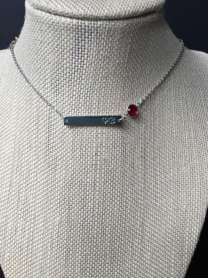 Custom mothers birthstone necklace First time mom gift New mom necklace Kids Initial letter monogram necklace Personalized Mothers day gift