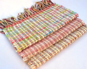 Vintage '60's Hand Loomed Table Mats (Set of 3)