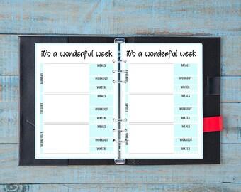 Vertical weekly planner - planner settimanale verticale - PRINTABLE - STAMPABILE