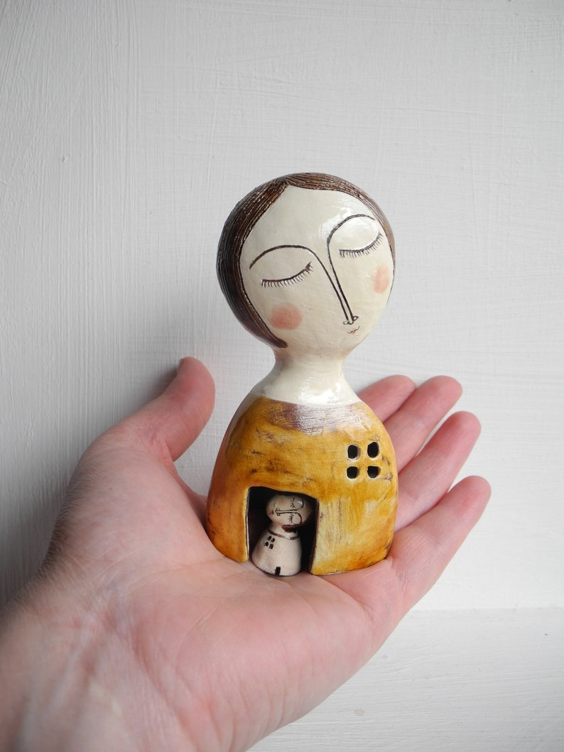 One of a kind ceramic sculpture,Figurine,art object,hand built ceramic sculpture, Ceramic sculpture,ceramic bust,miniature ceramic