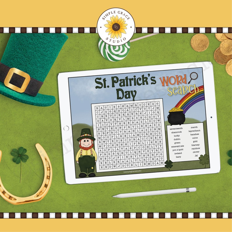 Word Search ~ St Patrick/'s Day ~ St Patrick/'s Day Word Search ~ Printable ~ Printables