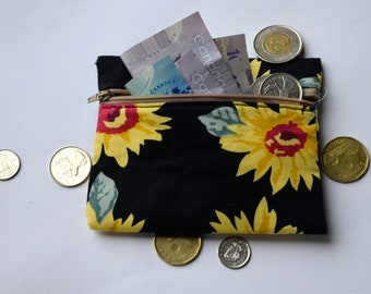 SUNFLOWERS | Zippered Pouch