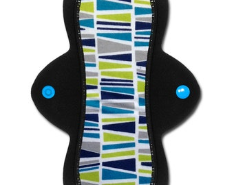 "Reusable Cloth Pad or Liner --Light or Moderate Flow-- (8 inch - ""Alluvium"" Flannel)"