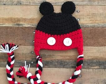 Mickey Ear Flap Hat